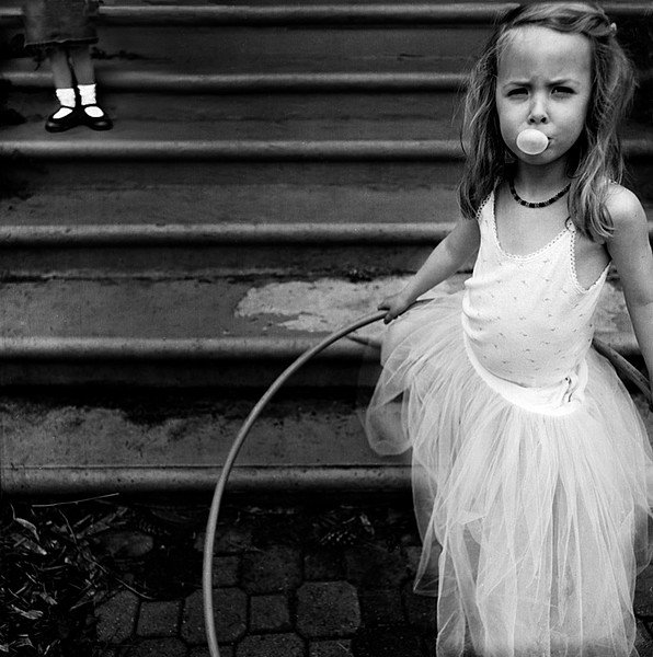 Bubble Girl, from the series, Mind Games. © Julie Blackmon.