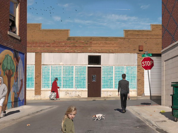Olive & Market St., from the series, New Work. © Julie Blackmon.
