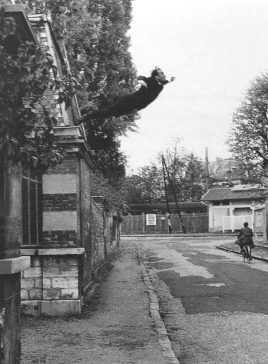 Leap into the Void, by Yves Klein.