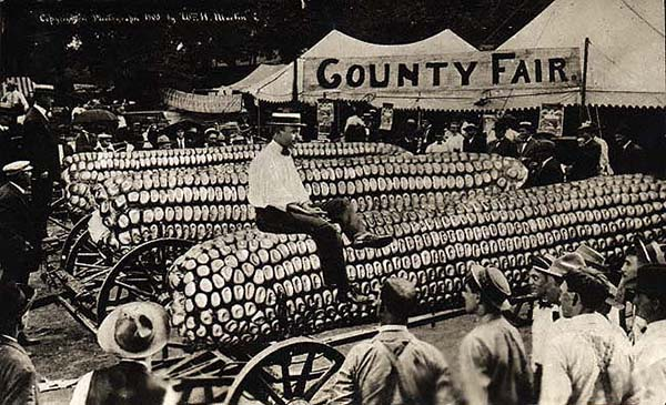 William H. Martin. Untitled (County Fair). Silver Print postcard, 3.5 x 5.5 inches, 1908