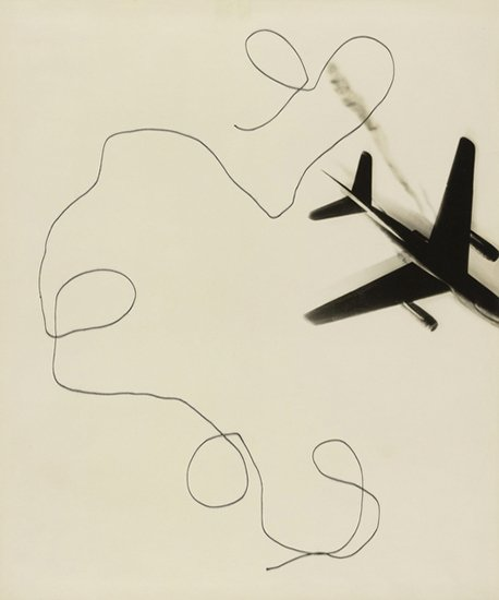 Magnifying Glass, Rendez-vous, 1970Gelatin silver print with string