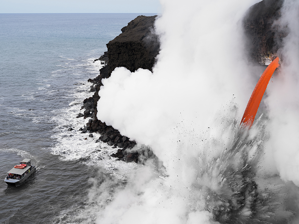 Lava Boat Tour, Hawaii 2017. © Lucas Foglia and courtesy Fredericks & Freiser Gallery, New York.