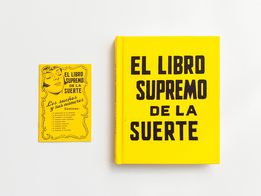 Cover of the book El Libro Supremo de la Suerte. Published by TIS Books and Light Work. Courtesy of the artist.